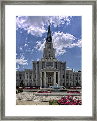 Houston Temple Framed Print
