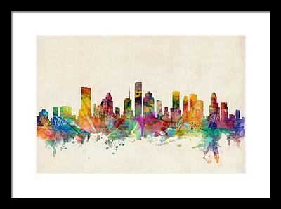 Texas Digital Art Framed Prints