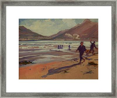 Hout Bay Beach Sunset Framed Print