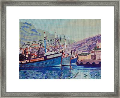 Framed Print featuring the painting Hout Bay Fishing Boats by Thomas Bertram POOLE