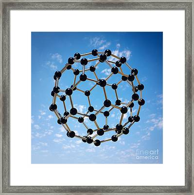 Hovering Molecule Framed Print by Carlos Caetano