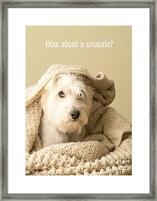 How About A Snuggle Card Framed Print by Edward Fielding