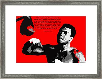 How Champs Are Made Framed Print by Brian Reaves
