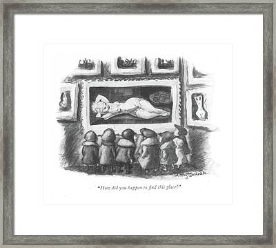 How Did You Happen To ?nd This Place? Framed Print by Jr., Whitney Darrow