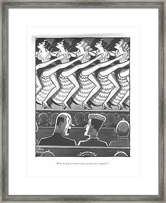 How Do I Know Where They Got The Shoe Coupons? Framed Print