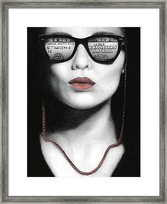 How Do I Love Thee...let Me Count Your Money Framed Print by Pat Erickson