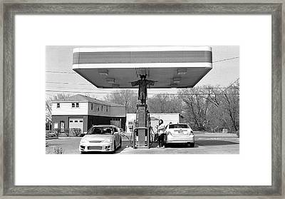 How Do You Pump Gas Framed Print by Chris Luechung