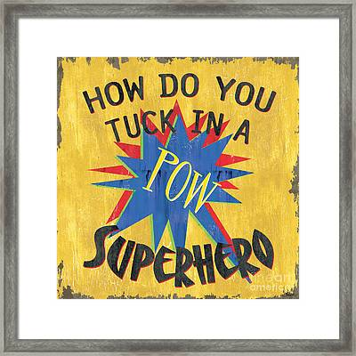 How Do You Tuck... Framed Print by Debbie DeWitt