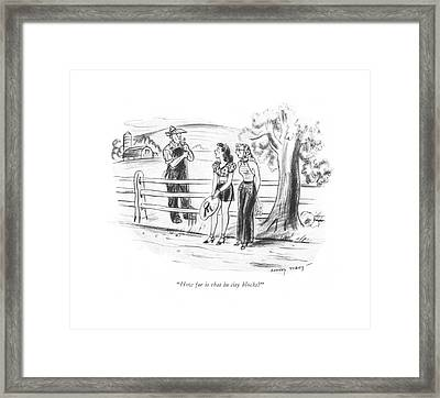 How Far Is That In City Blocks? Framed Print