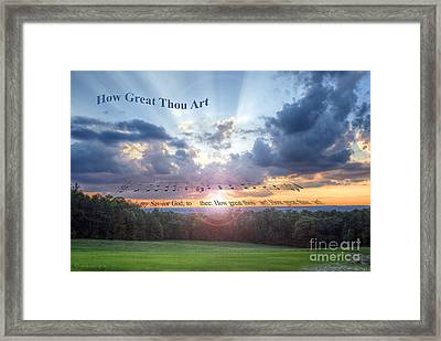 How Great Thou Art Sunset Framed Print