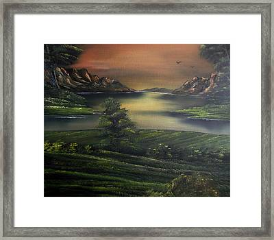 How Green Is My Valley Framed Print by Cynthia Adams