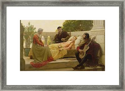 How Liza Loved The King, 1890 Framed Print by Edmund Blair Leighton
