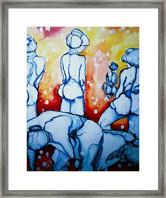 How Many Tears Will It Take? Framed Print by Rory Sagner