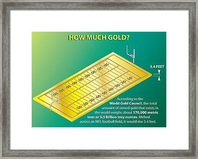 How Much Gold Framed Print