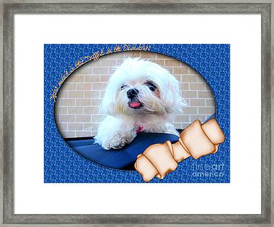 How Much Is That Doggie In The Window Framed Print