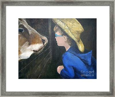 How Now...? Framed Print by Mary Lynne Powers