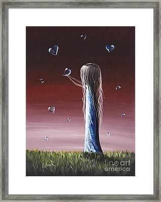 How She Says I Miss You By Shawna Erback Framed Print