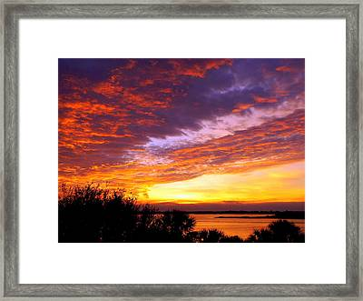 How Sweet The Sound Framed Print by Karen Wiles