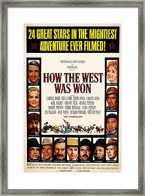 How The West Was Won Movie Poster 1962 Framed Print by Mountain Dreams