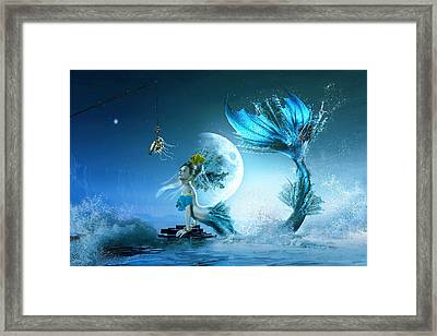 How To Catch A Mermaid Framed Print by Shanina Conway