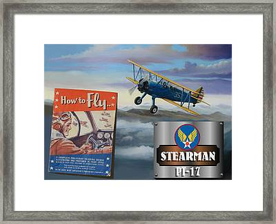How To Fly Stearman Pt-17 Framed Print