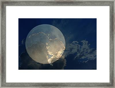 How To Hide The Moon Framed Print by Andrea Lawrence