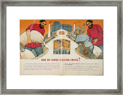 How To Make Cotton Out Of Bread? Framed Print by British Library