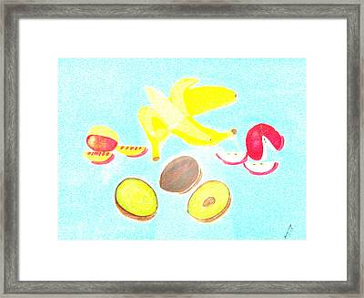 How To Peel Cut And Slice Framed Print by Lorna Maza