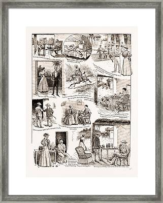 How We Saved Macdougalls Life A Story Of An Indian Hill Framed Print by Litz Collection