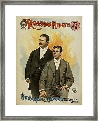 Howard And Stevens In Their Illustrated Songs Framed Print