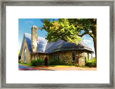 Framed Print featuring the photograph Howard County Historical Society Museum by Dana Sohr