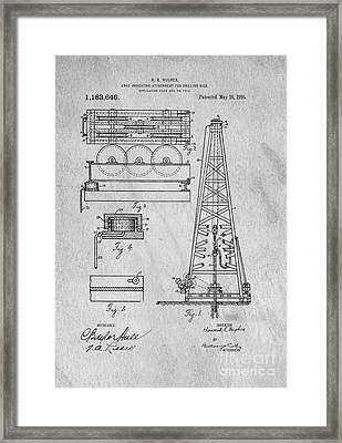 Howard Huges Drilling Rig Original Patent Framed Print