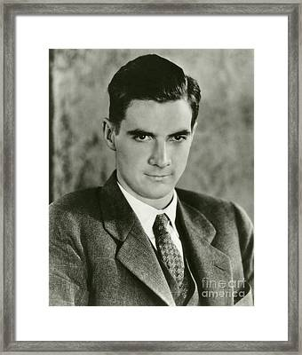 Howard Hughes, Us Aviation Pioneer Framed Print by Manuscripts And Archives Division