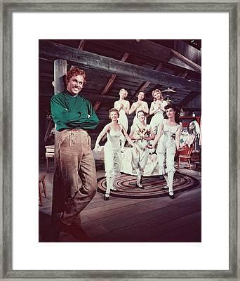 Howard Keel In Seven Brides For Seven Brothers  Framed Print