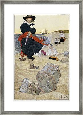 Howard Pyle Pirate Framed Print by Granger
