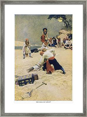 Howard Pyle Pirates Framed Print by Granger