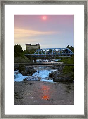 Howard Street Bridge Dawn Framed Print