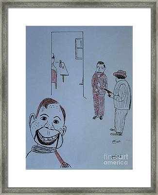 Framed Print featuring the drawing Howdy Lee And Me by Bill OConnor
