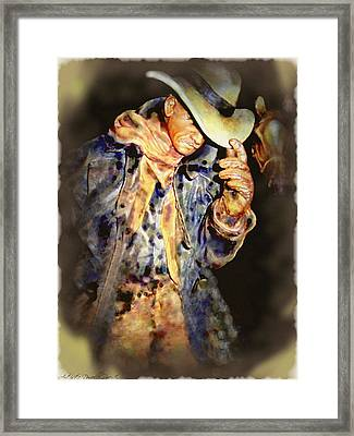 Howdy Mam How Do You Do Framed Print by Danielle  Parent