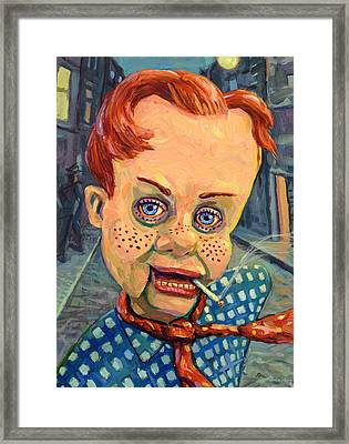 Howdy Von Doody Framed Print by James W Johnson