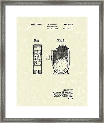Howell Camera 1837 Patent Art Framed Print