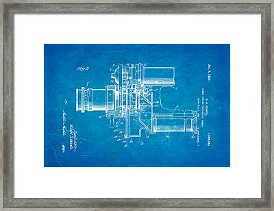 Howell Direct Viewing Camera 2 Patent Art 1929 Blueprint Framed Print by Ian Monk