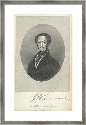 Howell Rees Gronow Framed Print by British Library