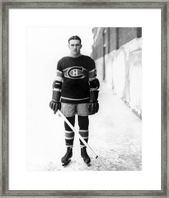 Howie Morenz Poster Framed Print by Gianfranco Weiss
