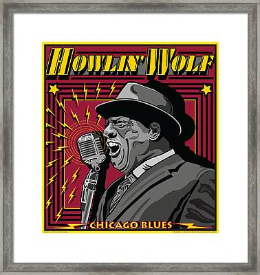 Howlin' Wolf Chicago Blues Legend Framed Print by Larry Butterworth