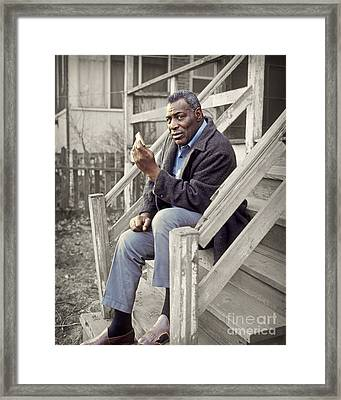 Howlin' Wolf 1969 Framed Print by Martin Konopacki Restoration