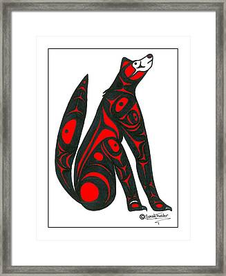 Howling Wolf Color Framed Print