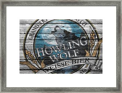 Howling Wolf Framed Print by Joe Hamilton