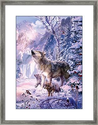 Howling Wolves Framed Print
