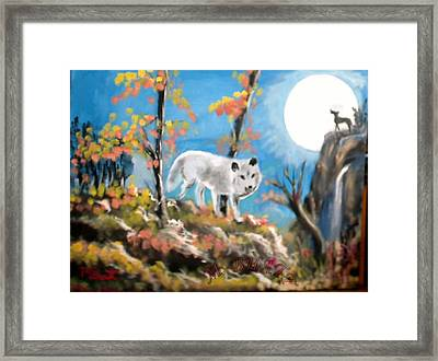 Howling Wolves Framed Print by M Bhatt